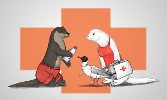 Request   Red Cross Otter Lifeguards By Louisethea