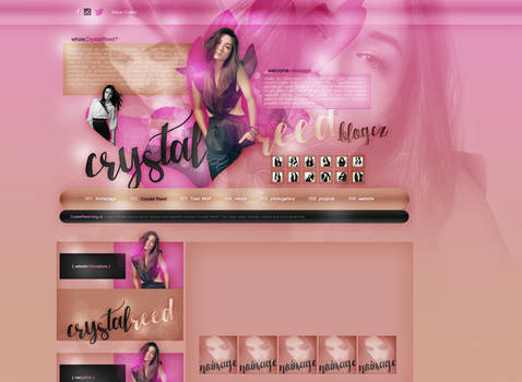 Layout ft. Crystal Reed by PixxLussy
