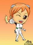 Puchi Nami in Rei's Plugsuit Eva 00