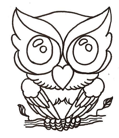 70s Style Owl Tattoo