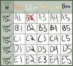 OC Breeding Chart ( 1 ) ~ OPEN by BlurbMurb