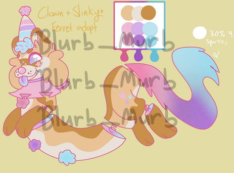 ~ clown + slinky + ferret OTA adoptable ~ CLOSED