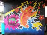 Japanese Koi Fish Wall Mural
