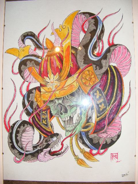 skull and snake by tattoojamie on deviantart. Black Bedroom Furniture Sets. Home Design Ideas