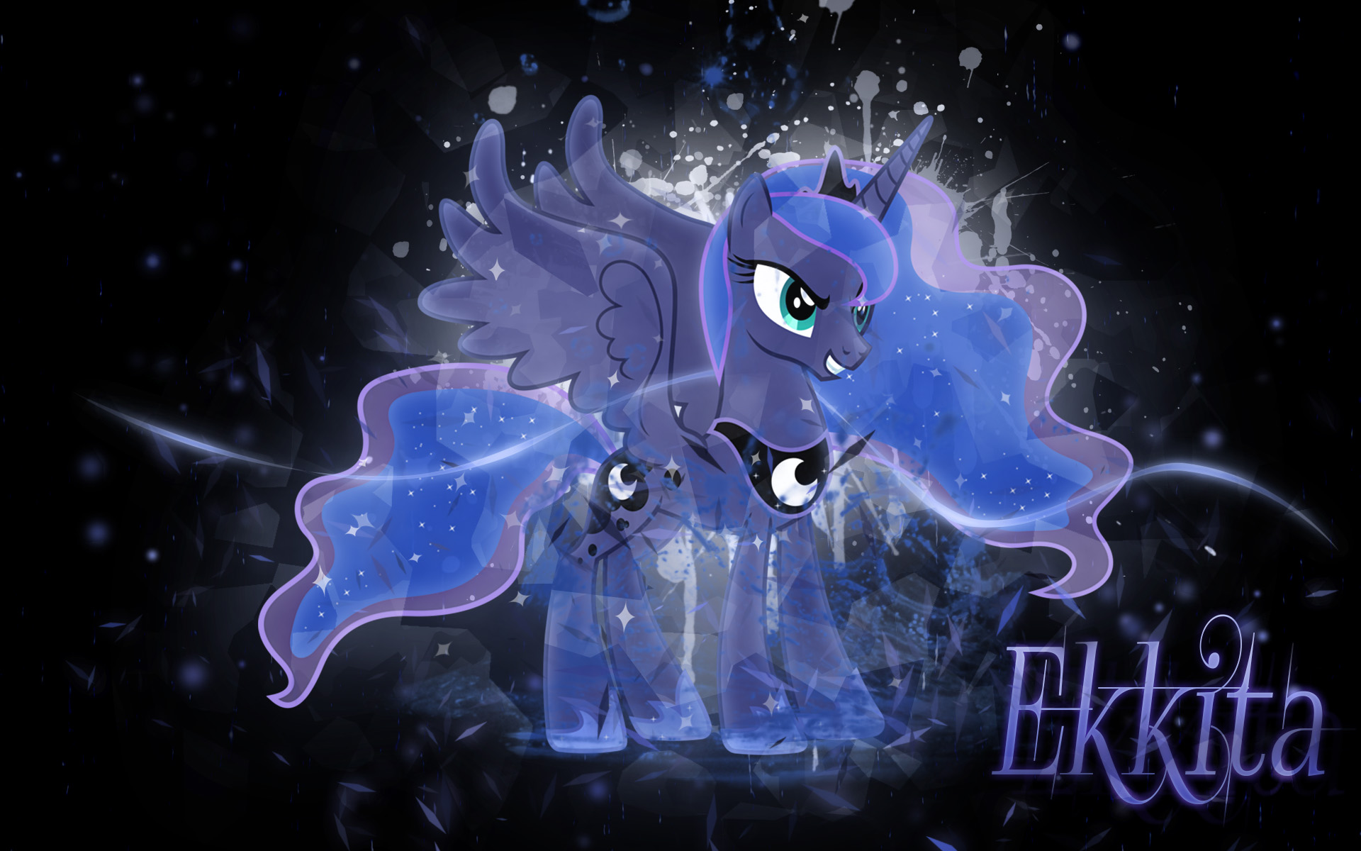 Crystal Luna Wallpaper by EkkitaTheFilly