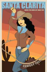 Santa Clairta Poster #1 Cowboy Festival by Drelion