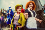 Rocky Horror - Columbia and Magenta cosplay