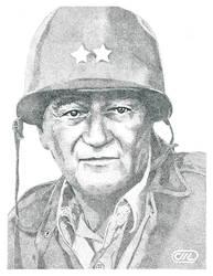 John Wayne by Deathbygraphite