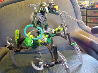 mantis and matoran 2 by legocentric