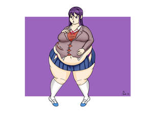 Commission - Yuri (DDLC) Weight Gain Part 2