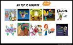 My Top 10 Favorite Nicktoons