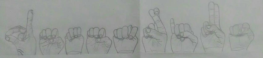 Letters in Sign Language by dwaters220