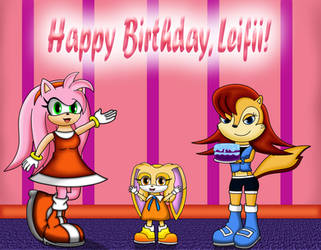 Sonic Girls Present the Birthday Cake (Gift) by dwaters220
