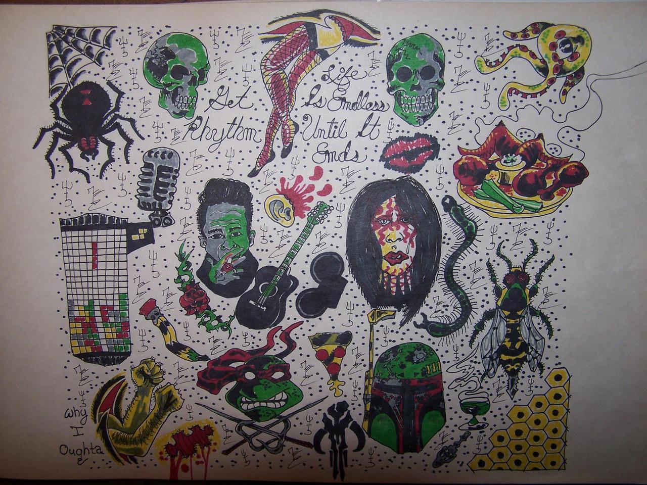 Traditional Tattoo Flash Wallpaper | www.imgkid.com - The ...