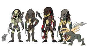 The Four Predators from Predators