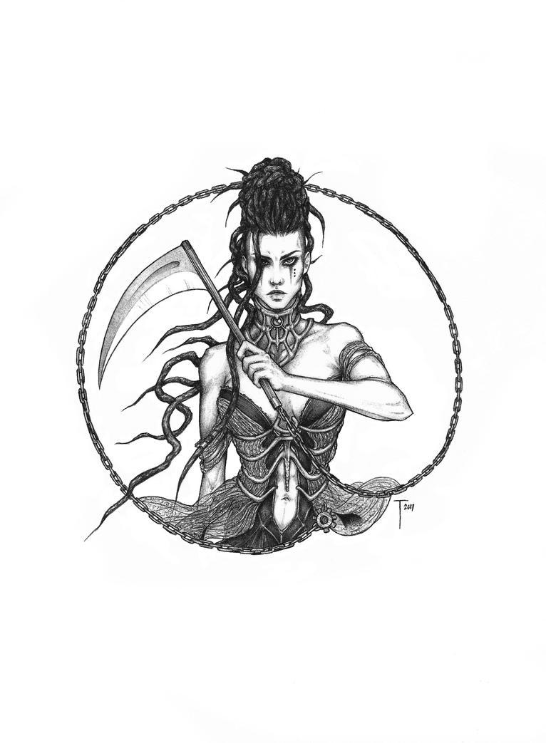 Commission - Rah (tattoo design) by 73554B