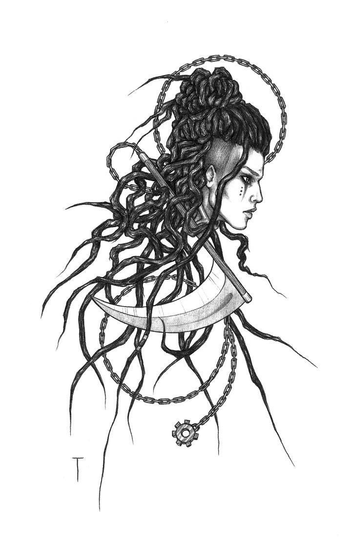 Commission - Rah (tattoo design 2) by 73554B