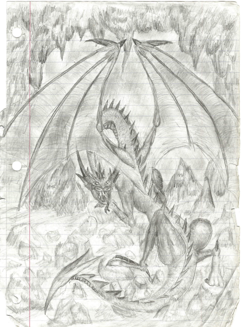 Cave dragon by sirkles