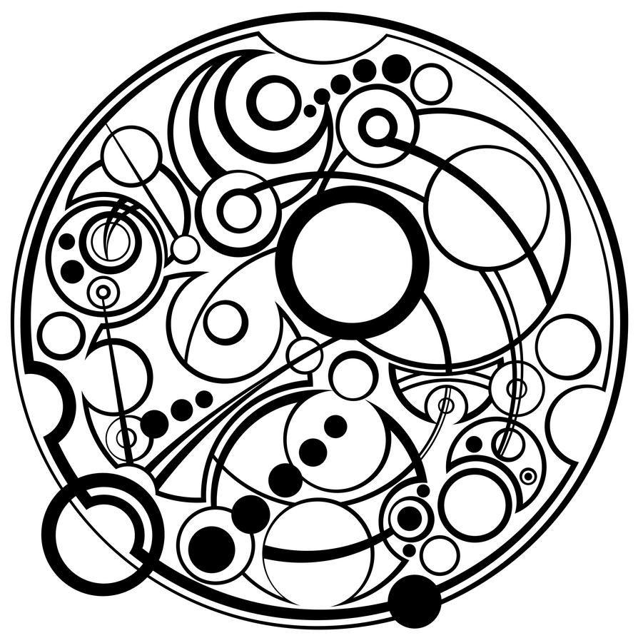 Gallifreyan Pangram by sirkles