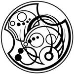 Gallifreyan name with tapered lines