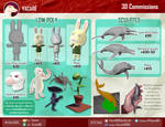 3D Commissions price sheet by YacareKB