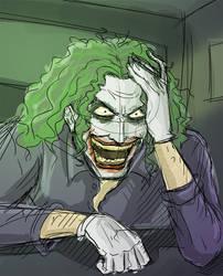 Joker Sketch by fieveltrue