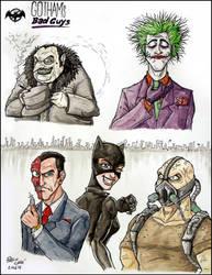 Gotham's Bad Guys by fieveltrue