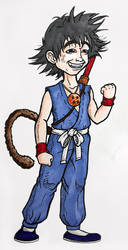 (Kind a) Realistic Goku by fieveltrue