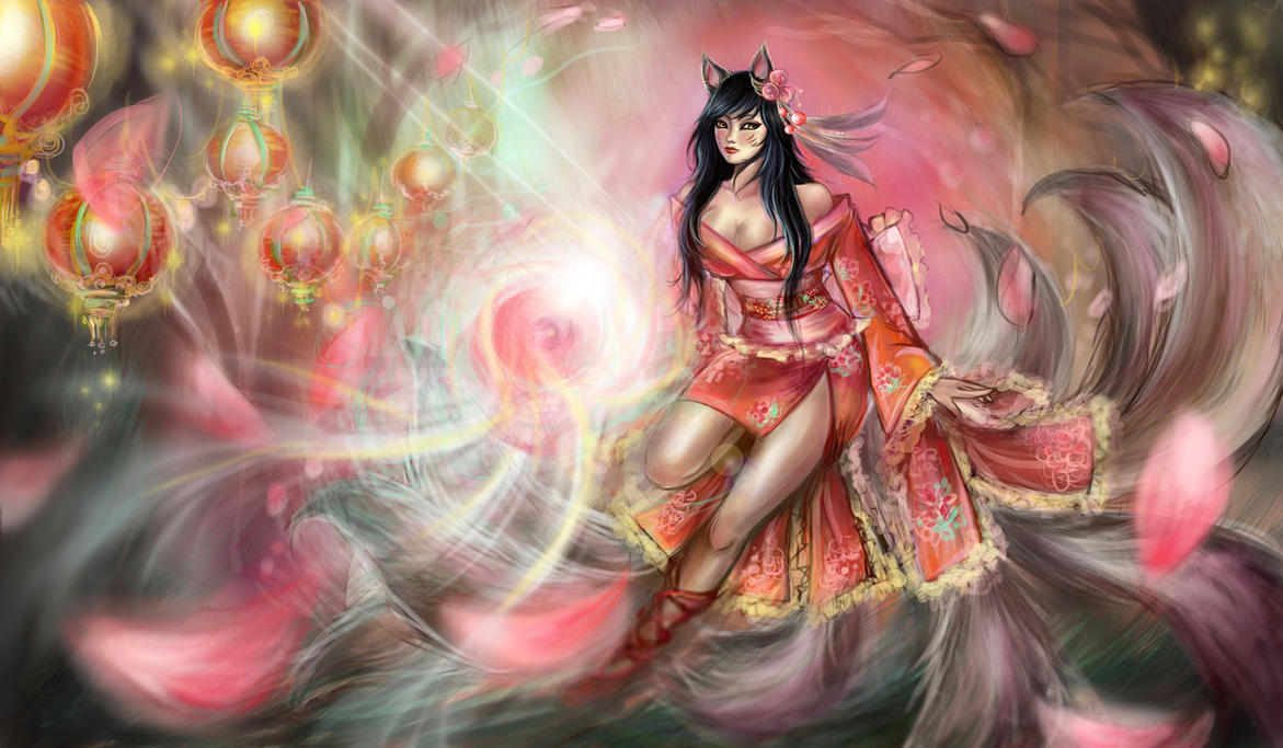 League of Legends Contest for Lunar Revel - Ahri by LunarPacifier