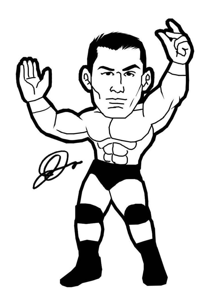 The Gallery For Gt How To Draw Randy Orton Randy Orton Coloring Pages
