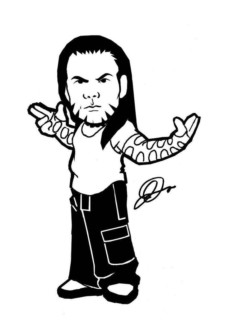 Wwe jeff hardy coloring pages sketch coloring page for Jeff hardy coloring pages
