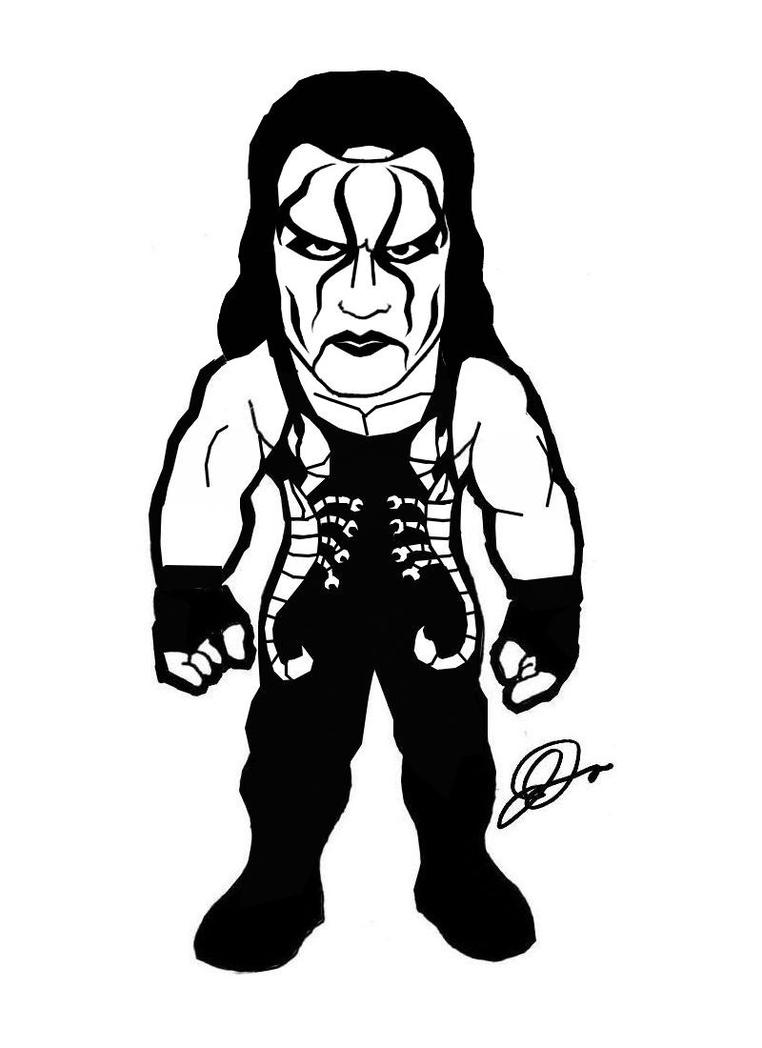 Sting tna coloring pages coloring pages for Aj styles coloring pages