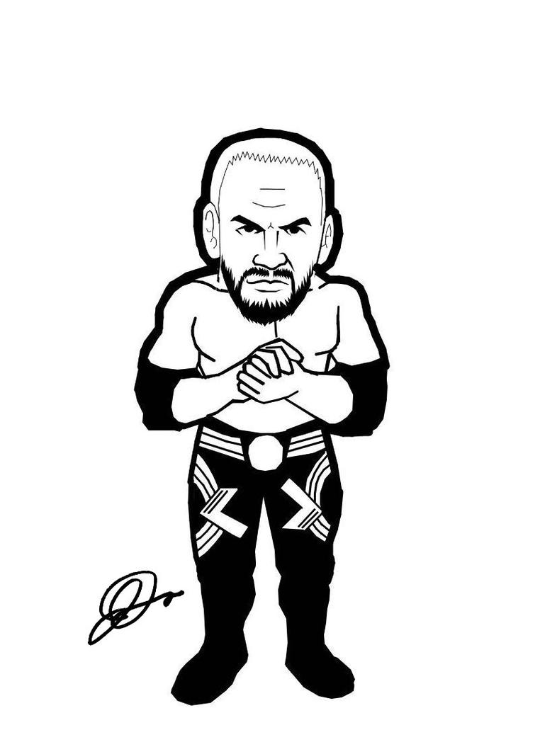 Get This Printable wwe coloring pages randy orton - 67209 !   1100x800