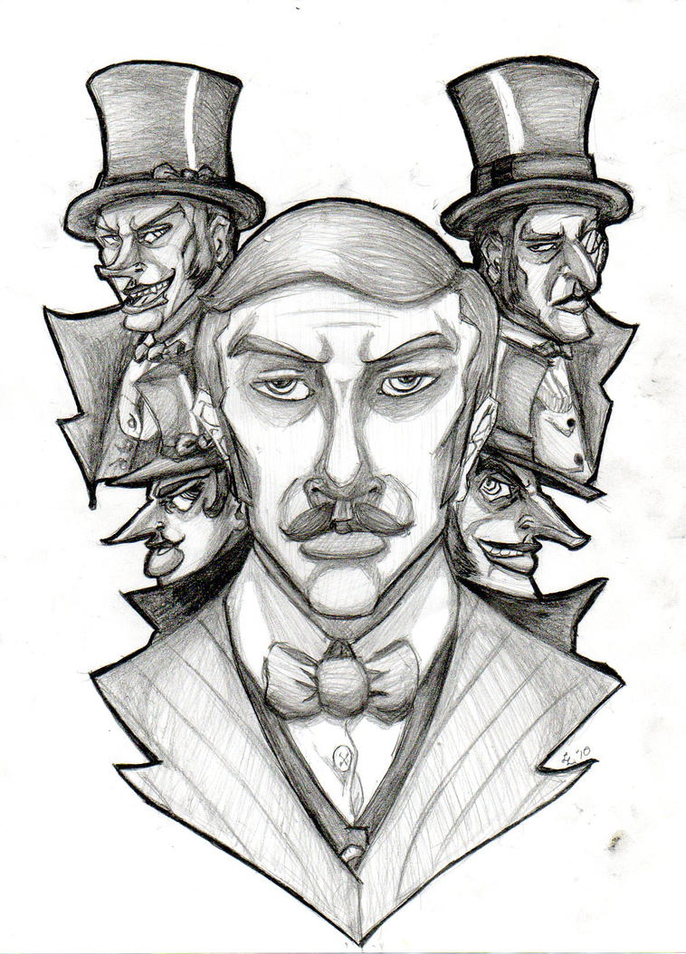 It is a picture of Luscious Dr Jekyll And Mr Hyde Drawing