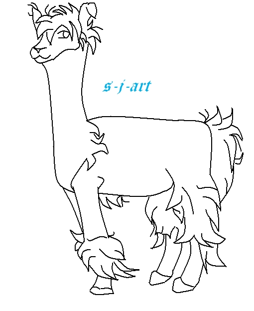 Line Drawing Llama : Free llama line art by sjart on deviantart