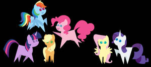 Pointy Ponies (Wallpaper)