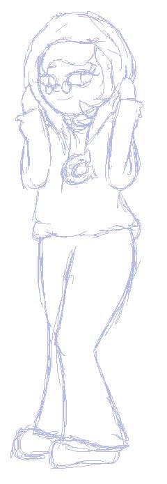 Lannie Lona's Hoodie - Sketch by SJArt117