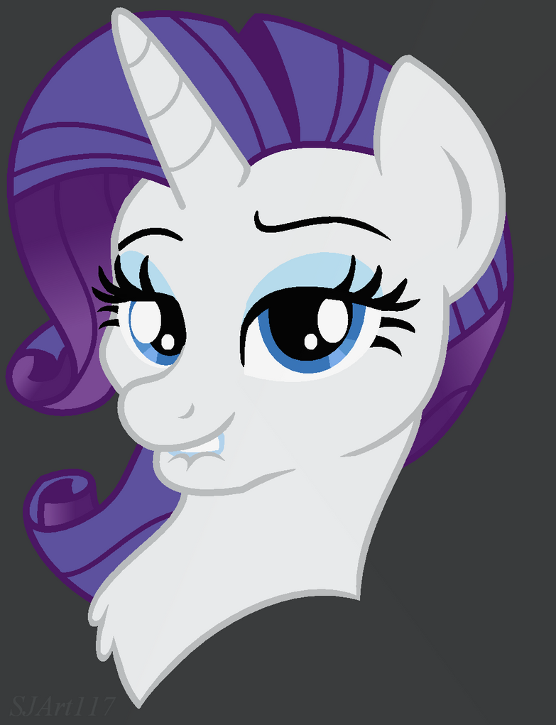 Rarity - Ponyface by SJArt117