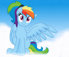 Rainbow Dash - Chillin' On Clouds by SJArt117