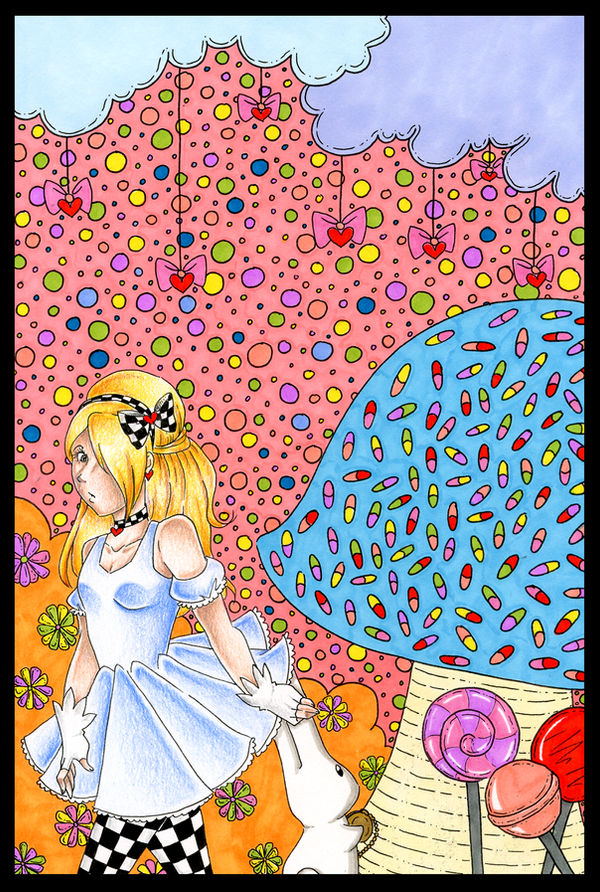 ::Alice and the White Rabbit:: by xXCupcake-PrincessXx
