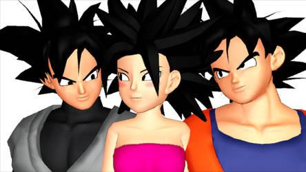 Goku X Caulifla X Goku Black