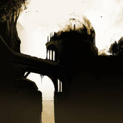 Duotone Temple by evildisco