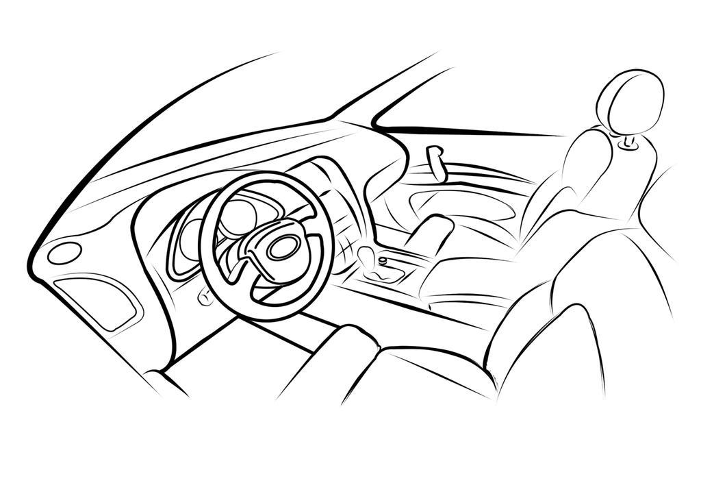 car interior sketch by m3ocm on deviantart. Black Bedroom Furniture Sets. Home Design Ideas