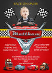 Cars Birthday Invitation #1 front