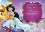 Princess Jasmine Birthday Invitation front