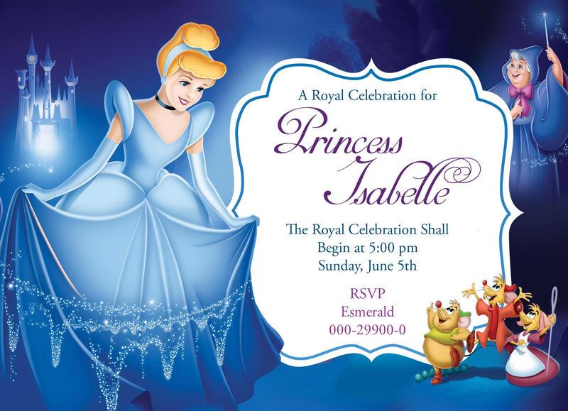 Disney Cinderella birthday invitation card by ...