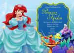 Disney Little Mermaid birthday invitation card