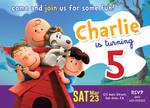 Peanuts movie birthday invitation card