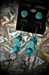 .teal roses in full bloom. by GrotesqueDarling13