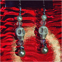 Lovely, Pearls and Skulls by GrotesqueDarling13